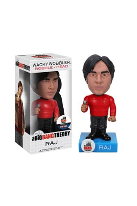 RAJ STAR TREK CABEZON 18 CM WACKY WOBBLER THE BIG BANG THEORY