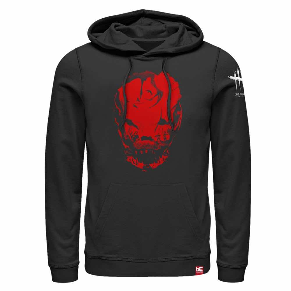 BLOODLETTING RED SUDADERA CON CAPUCHA NEGRA T-L DEAD BY DAYLIGHT