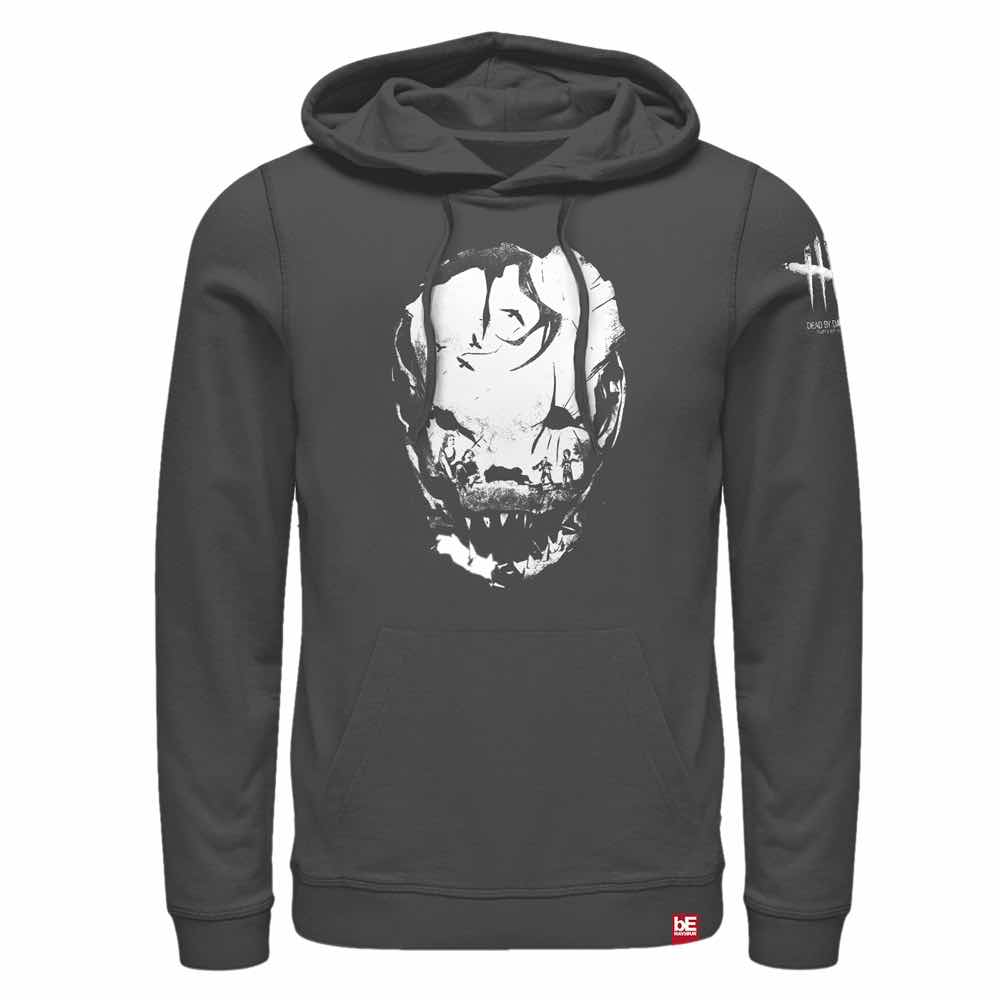 BLOODLETTING WHITE SUDADERA CON CAPUCHA GRIS T-S DEAD BY DAYLIGHT