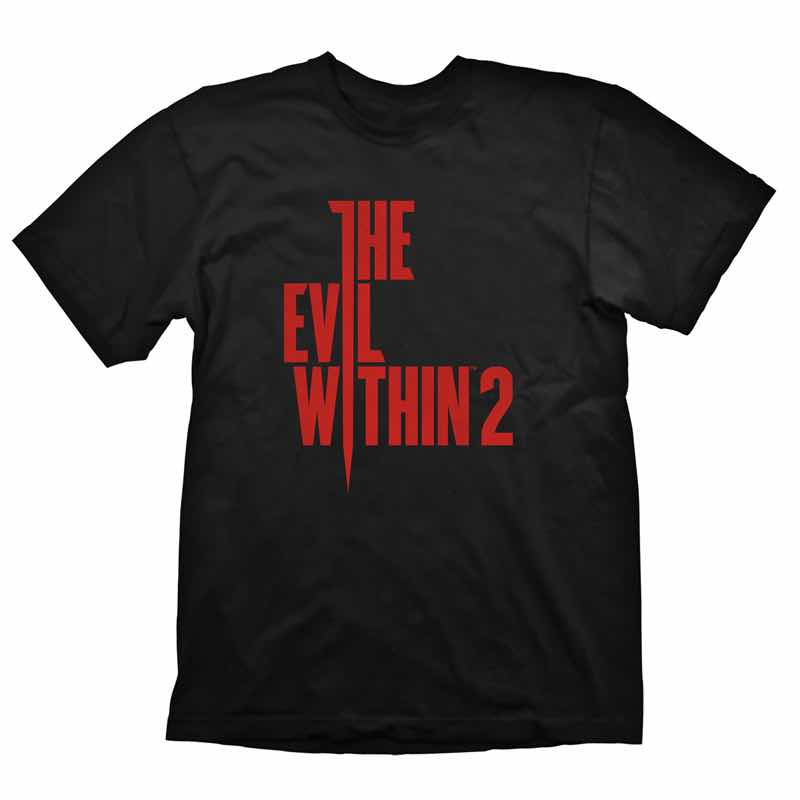 LOGO VERTICAL CAMISETA NEGRA CHICO TALLA M THE EVIL WITHIN 2