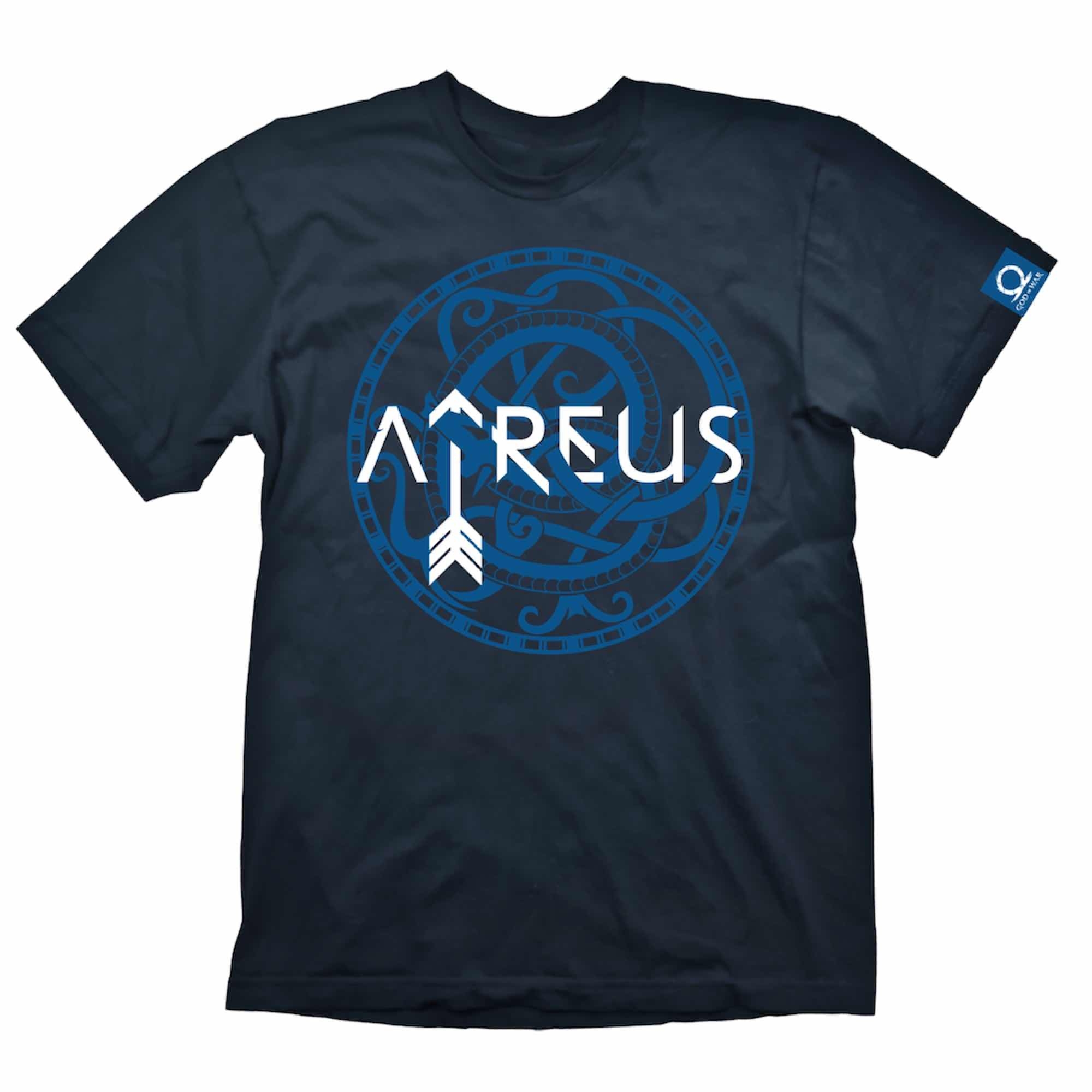 T-S SIMBOLO ATREUS CAMISETA AZUL GOD OF WAR