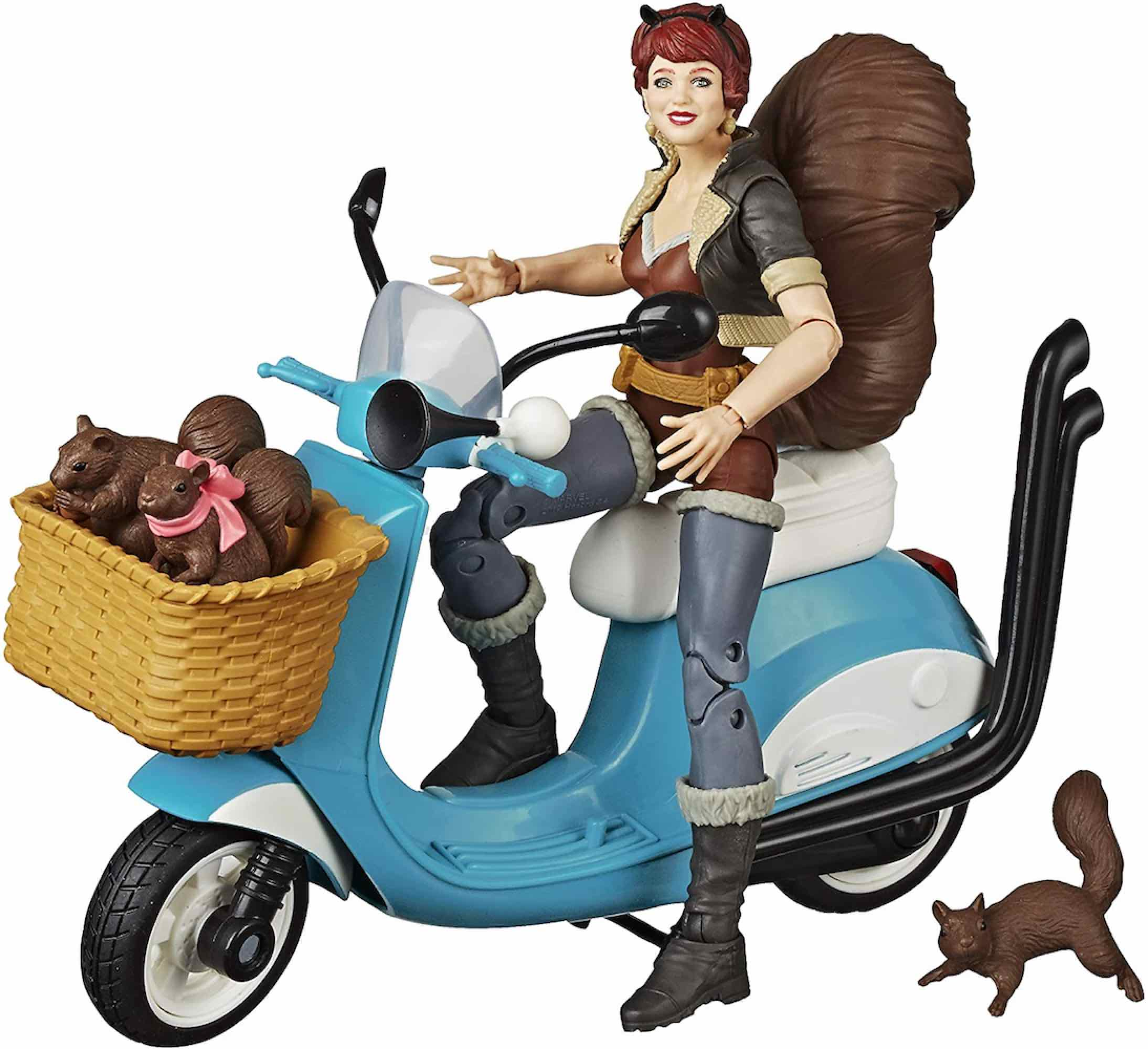 SQUIRREL GIRL + MOTOCICLETA FIGURA 15 CM MARVEL LEGENDS VEHICLE E86005X0