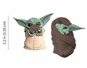 PACK THE CHILD BABY YODA SOPA + MANTA SET 2 FIGURAS 5,5 CM STAR WARS THE BOUNTY COLLECTION