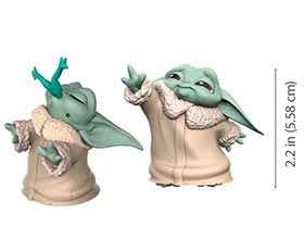 PACK THE CHILD BABY YODA FUERZA + RANA SET 2 FIGURAS 5,5CM STAR WARS THE BOUNTY COLLECTION