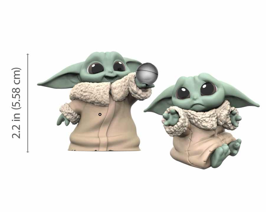 PACK THE CHILD BABY YODA BOLA + PENA SET 2 FIGURAS 5,5CM STAR WARS THE BOUNTY COLLECTION