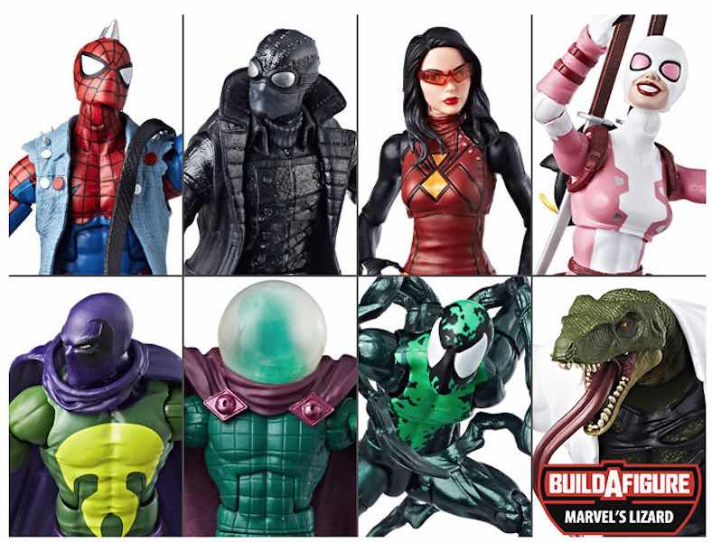 SURTIDO SPIDER-MAN INFINITY LEGENDS 8 FIGURAS 18 CM MARVEL LEGENDS