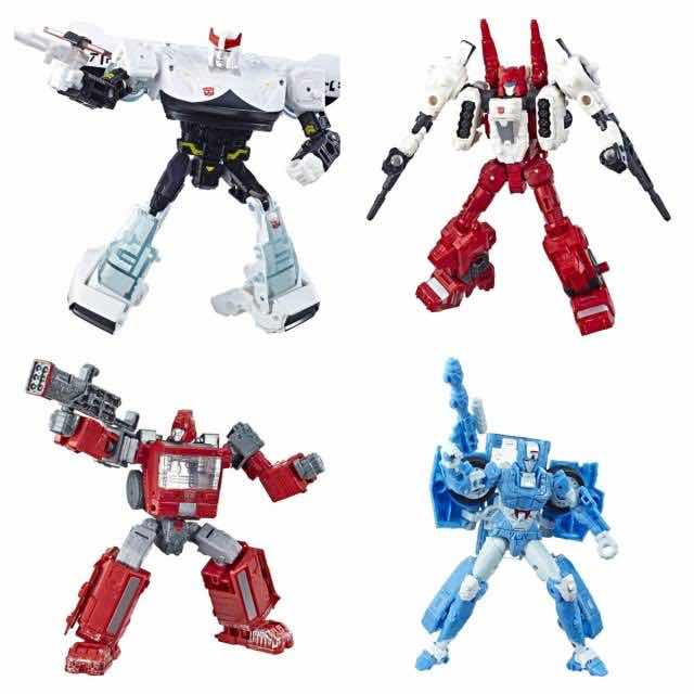 SURTIDO IRONHIDE, CHROMIA,PROWL,SIXGUN WAR FOR CYBERTRON DLX 8 FIG TRANSFORMERS E3432EU41