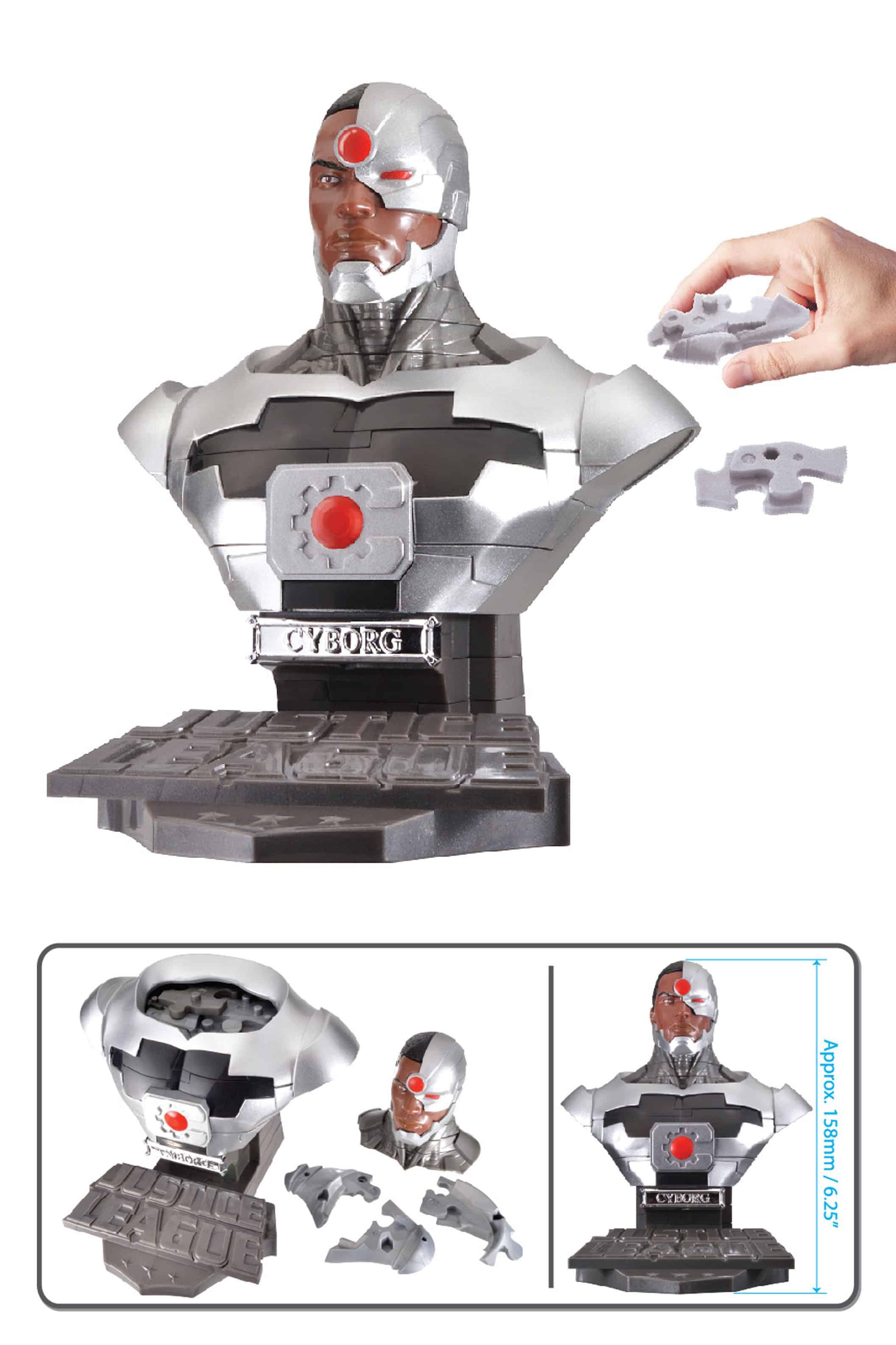 CYBORG SOLID VERSION BUSTO PUZLE 3D 15 CM DC UNIVERSE