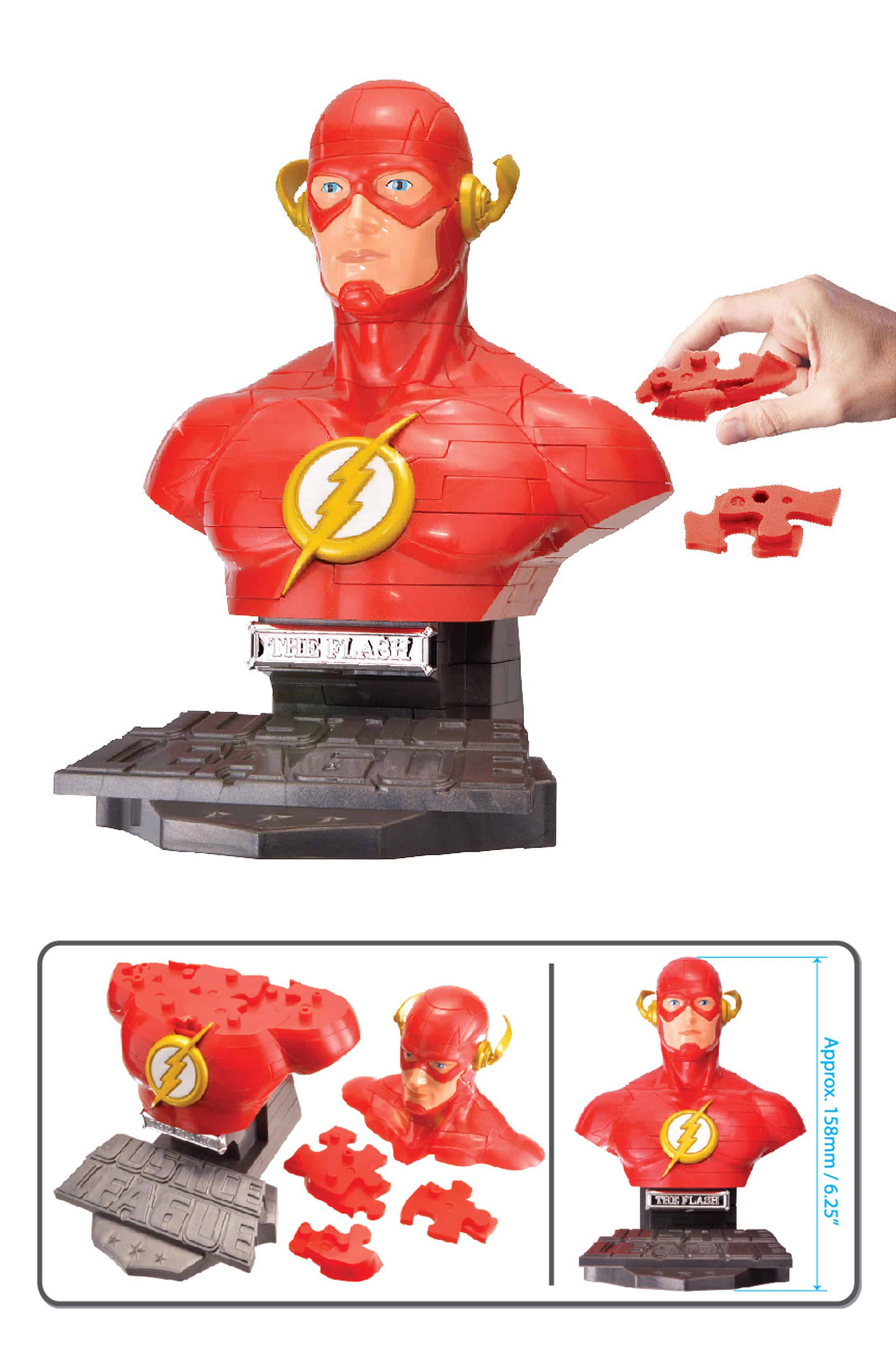 THE FLASH SOLID VERSION BUSTO PUZLE 3D 15 CM DC UNIVERSE