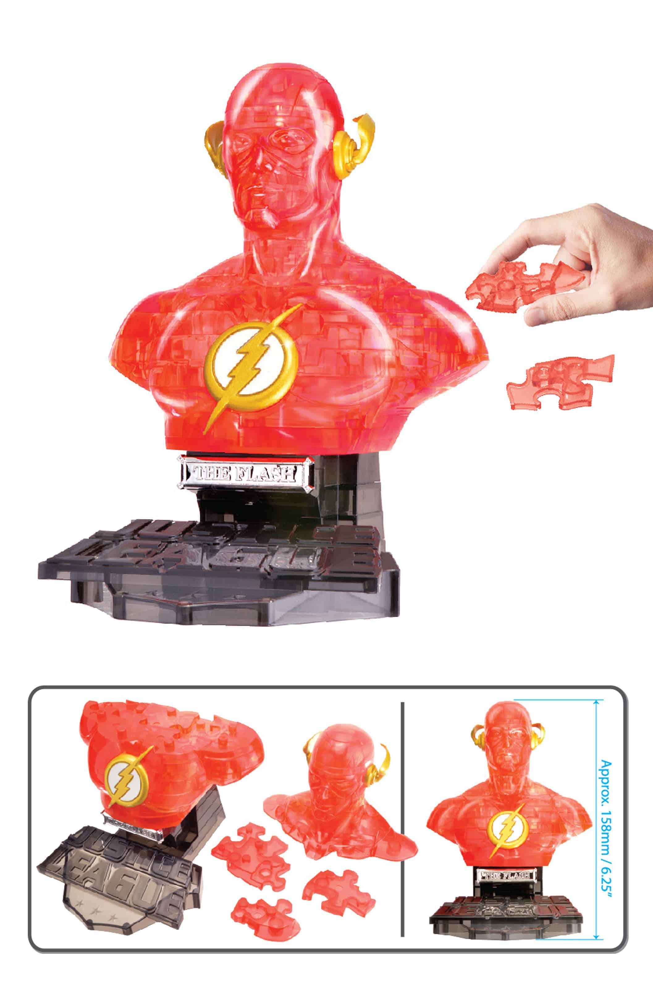 THE FLASH CRISTAL VERSION BUSTO PUZLE 3D 15 CM DC UNIVERSE