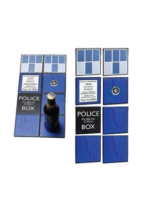 TARDIS SET DE 8 POSAVASOS CERAMICA 10x10x0.5 CM DOCTOR WHO