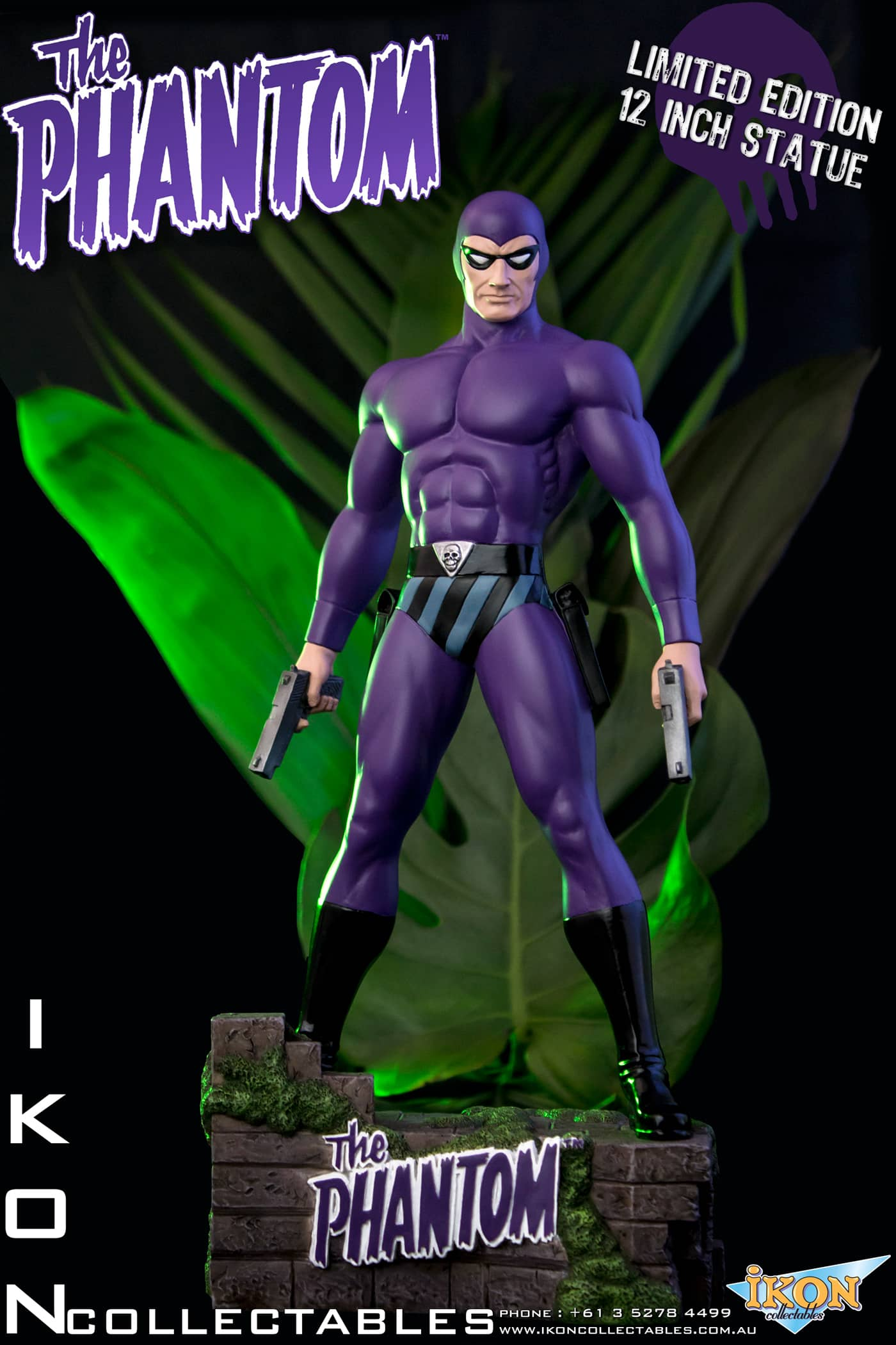THE PHANTOM GHOST WHO WALKS ESTATUA 31 CM EDICION LIMITADA THE PHANTOM