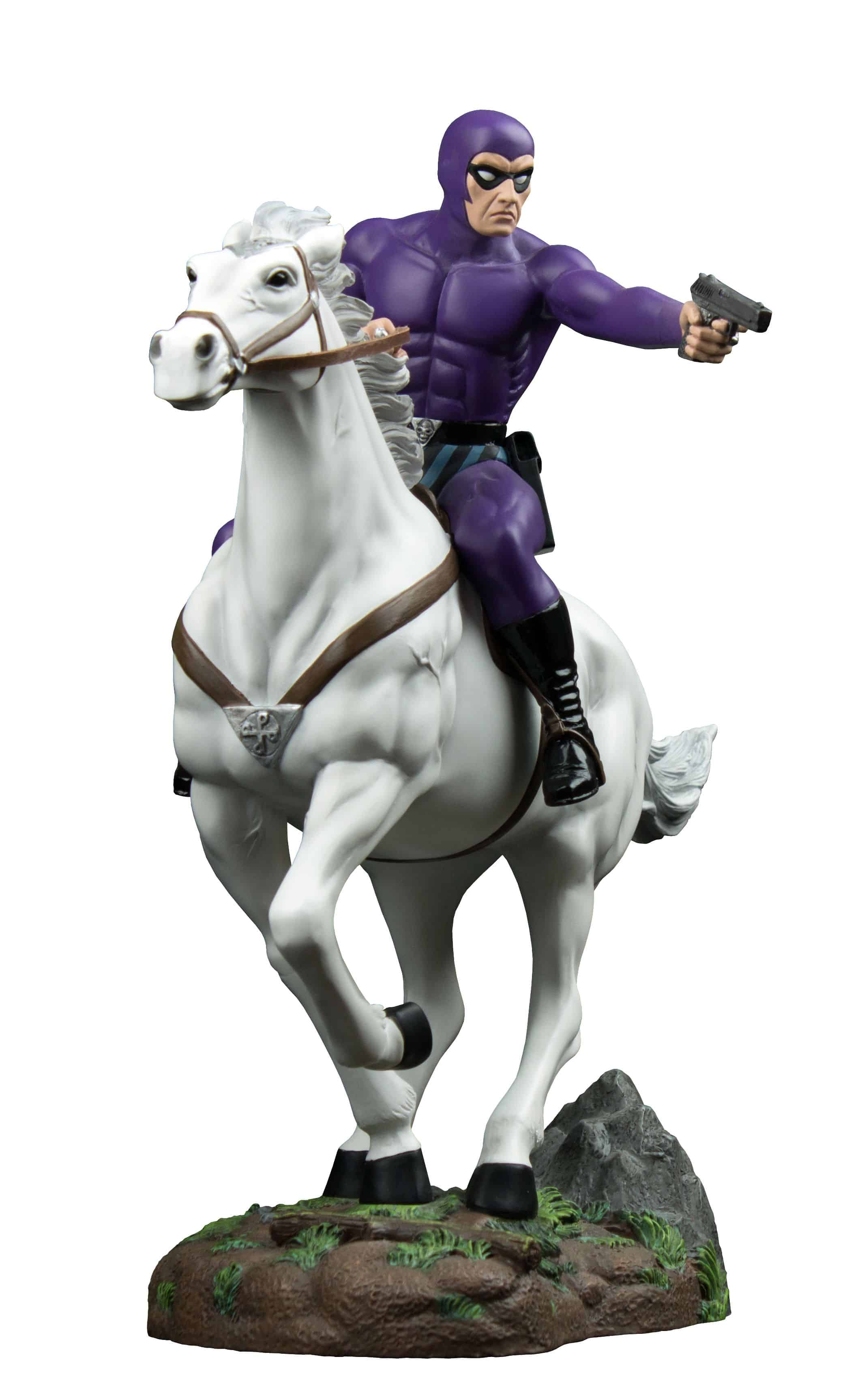 THE PHANTOM (PURPURA VERSION) MONTADO EN HERO ESTATUA 33 CM THE PHANTOM
