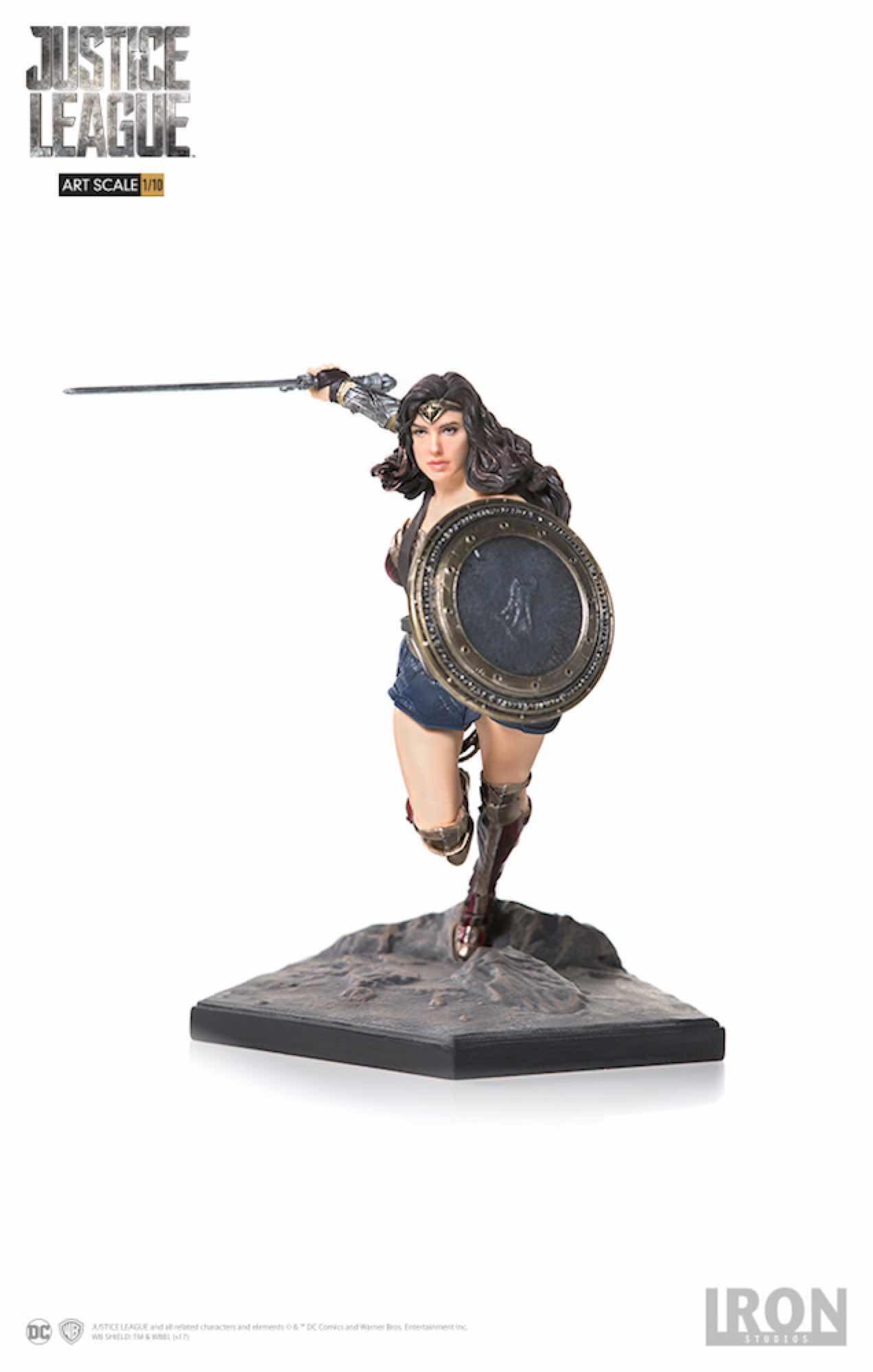 WONDER WOMAN FIG 18 CM JUSTICE LEAGUE DC COMICS IRON STUDIOS 1/10 ART SCALE
