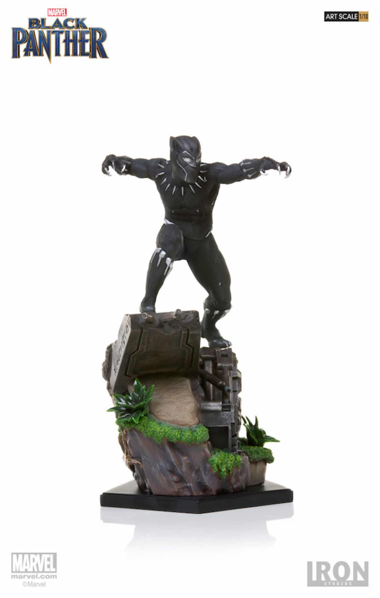 BLACK PANTHER FIG 26 CM BLACK PANTHER IRON STUDIOS BDS 1/10 ART SCALE