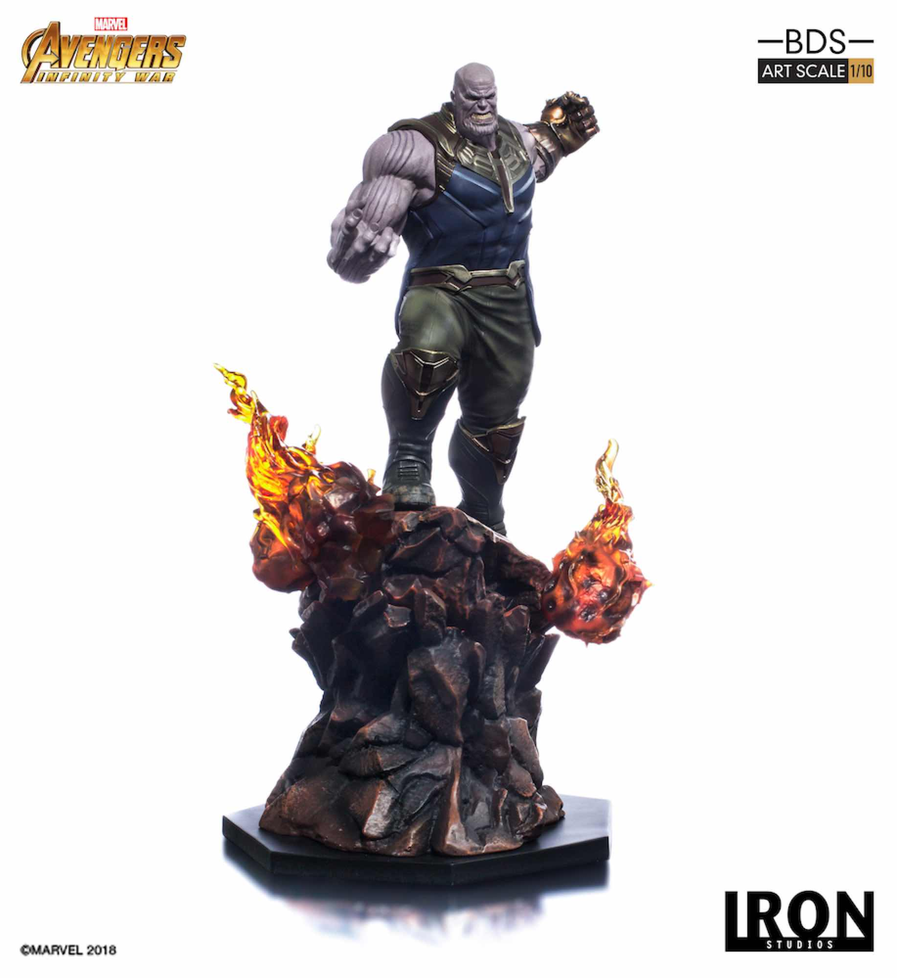 THANOS FIG 35 CM AVENGERS INFINITY WAR IRON STUDIOS BDS 1/10 ART SCALE