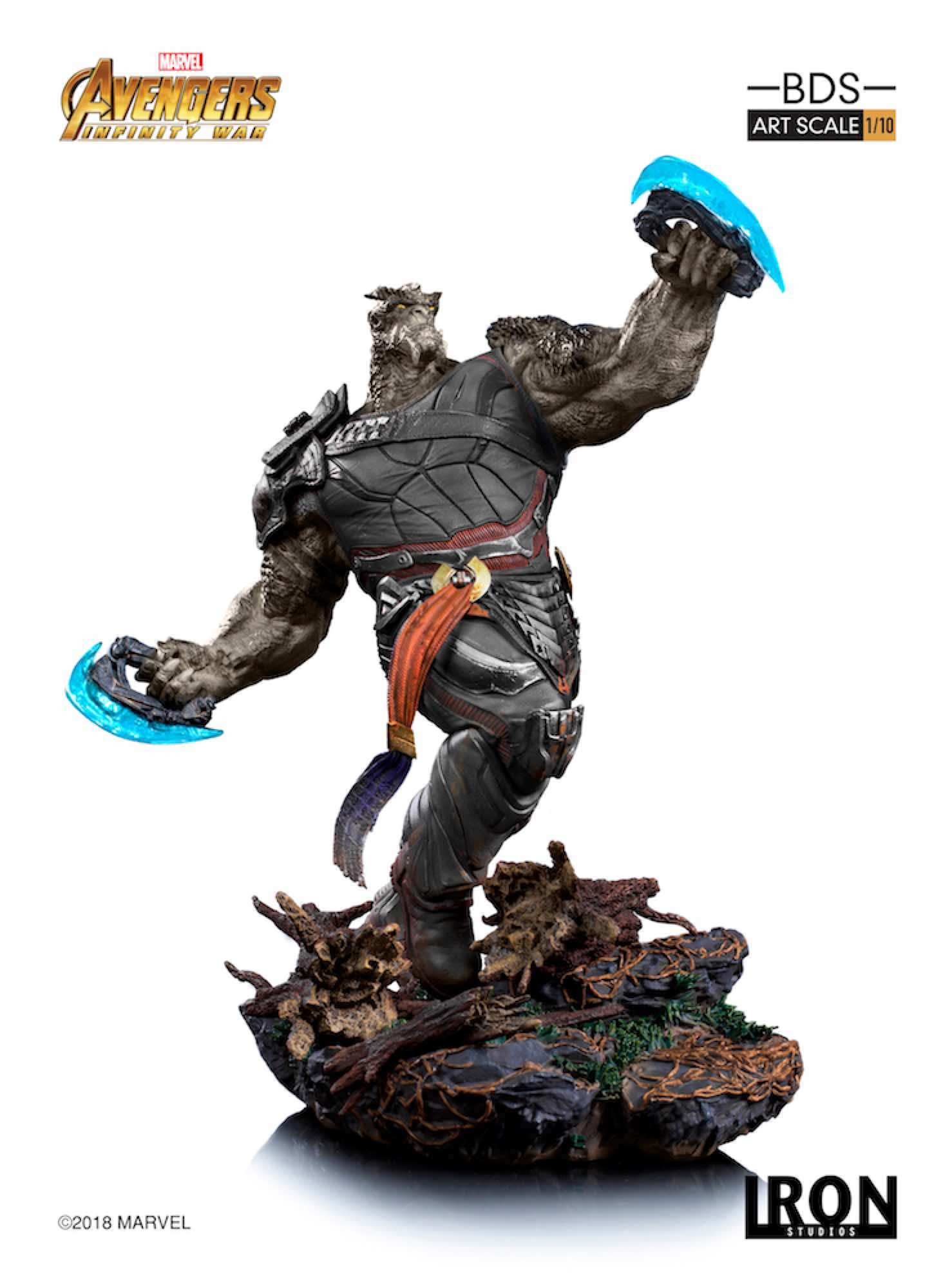 CULL OBSIDIAN FIG 40 CM AVENGERS INFINITY WAR IRON STUDIOS BDS 1/10 ART SCALE