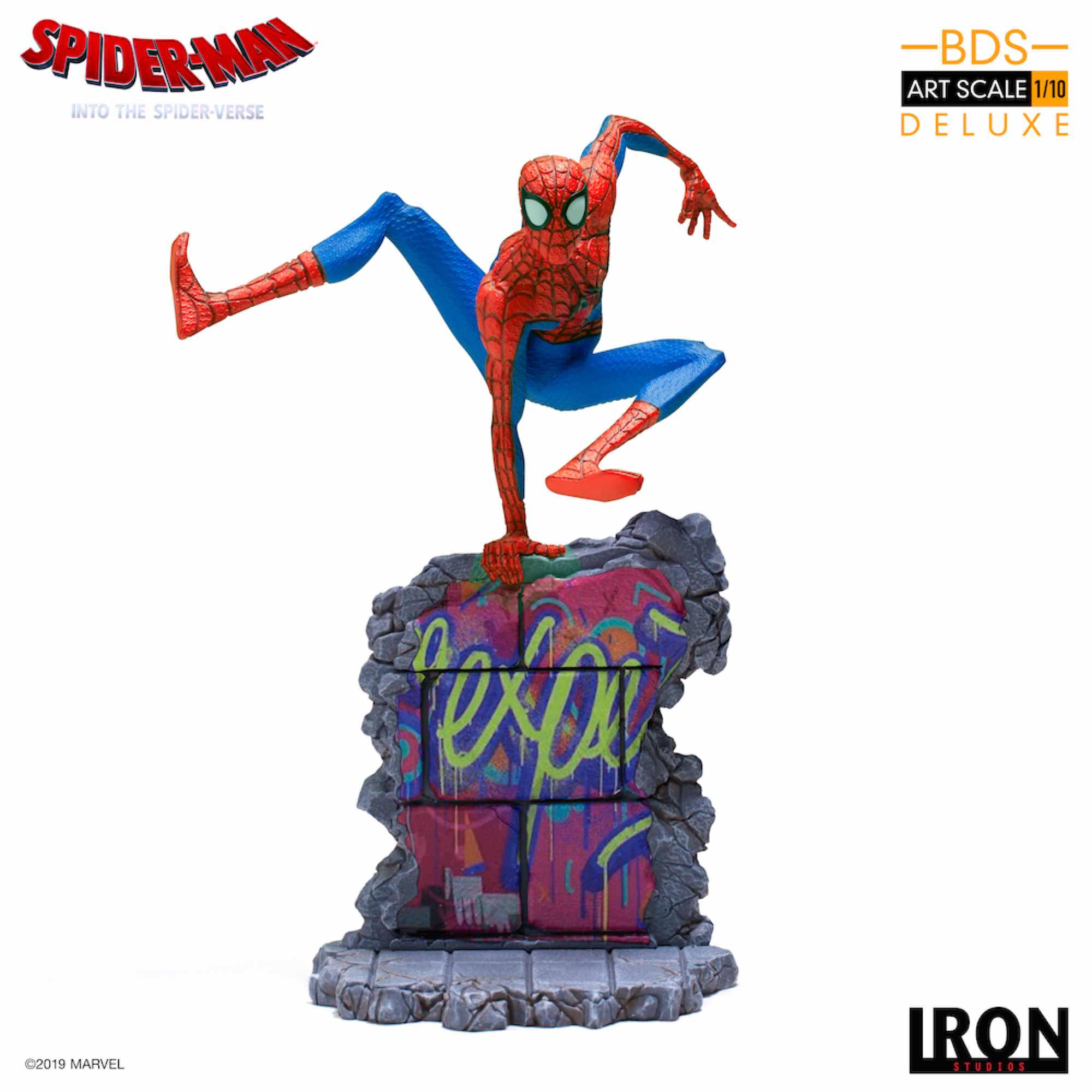 PETER B. PARKER FIG 21 CM BDS 1/10 ART SCALE IRON STUDIOS SPIDER-MAN INTO THE SPIDER-VERSE