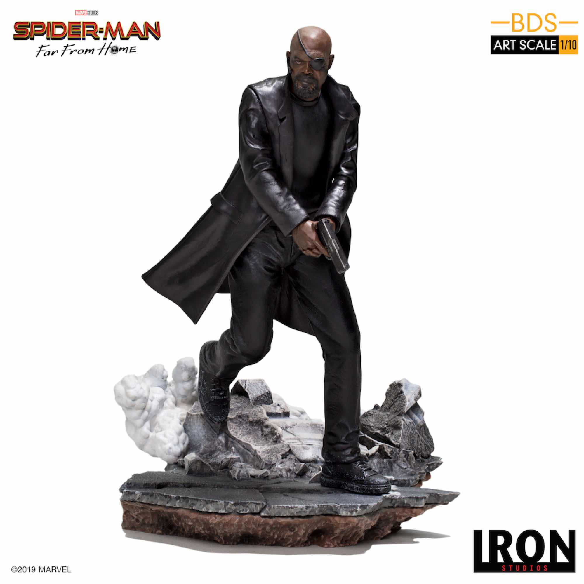 NICK FURY FIG 19 CM BDS 1/10 ART SCALE IRON STUDIOS SPIDER-MAN FAR FROM HOME