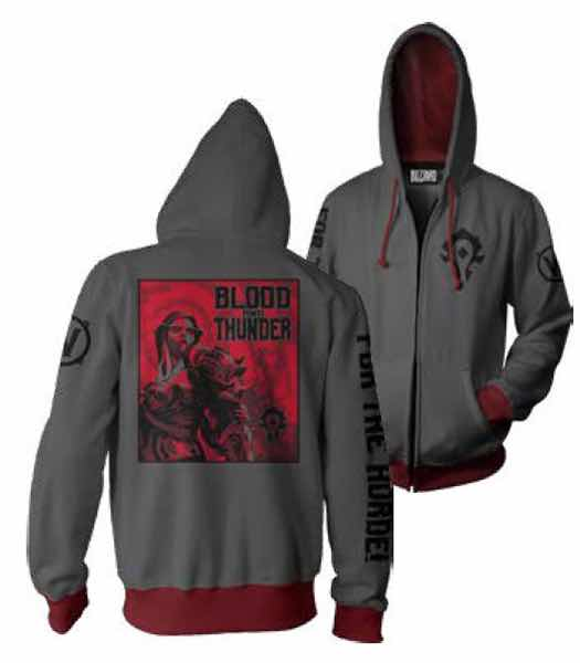 LA HORDA WARFRONT SUDADERA CON CAPUCHA GRIS T-M WORLD OF WARCRAFT