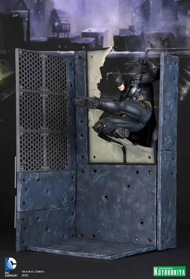 BATMAN + DIORAMA  MODULAR FIGURA 25.4 CM ARKHAM KNIGHT ARTFX+