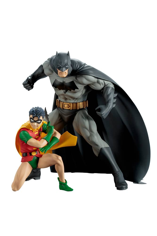 BATMAN & ROBIN PACK 2 FIGURAS 15,5 Y 9,5 CM BATMAN DC UNIVERSE ARTFX+