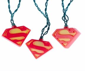 LOGO SUPERMAN SET LUCES NAVIDAD UNIVERSO DC