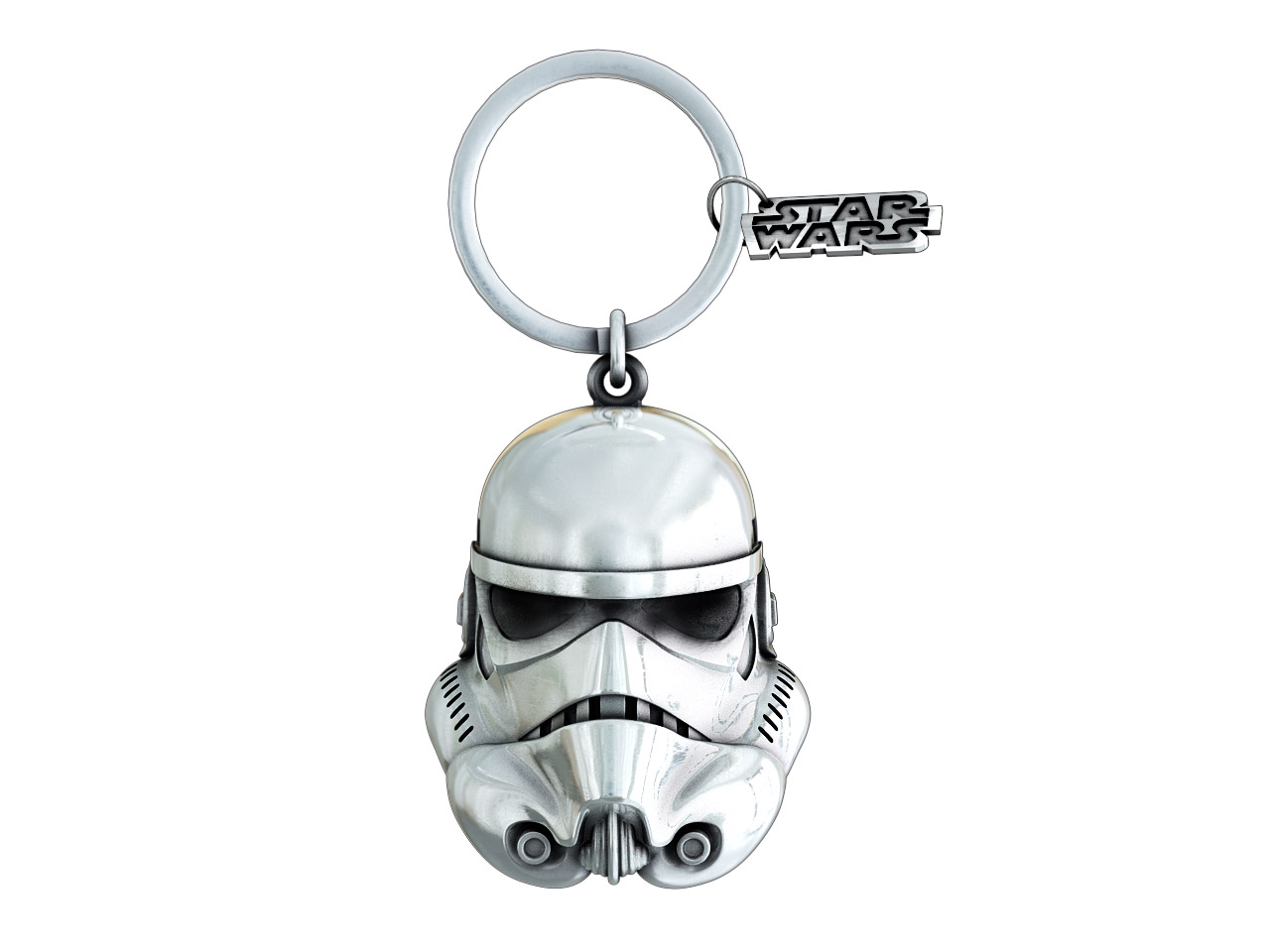 STORMTROOPER OPEN THE BLAST DOORS! CABEZA BAÑO PLATA LLAVERO STAR WARS