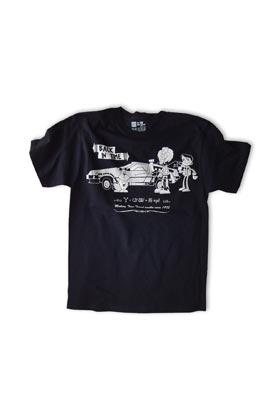 BACK IN TIME CAMISETA NEGRA UNISEX T-S MISTER BLACK TEE