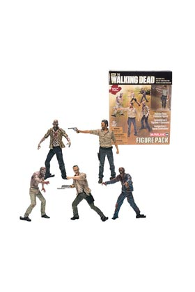 FIGURE PACK #1 SET 5 FIGURAS 5 CM WALKING DEAD CONSTRUCTION SET