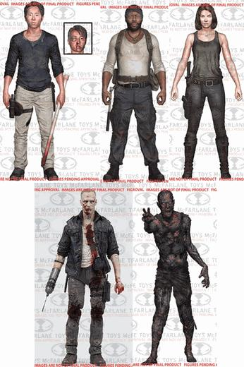 THE WALKING DEAD TV SURTIDO 12 FIG 13 CM (TV VERSION) SERIE 5 (3/2/2/2/3)