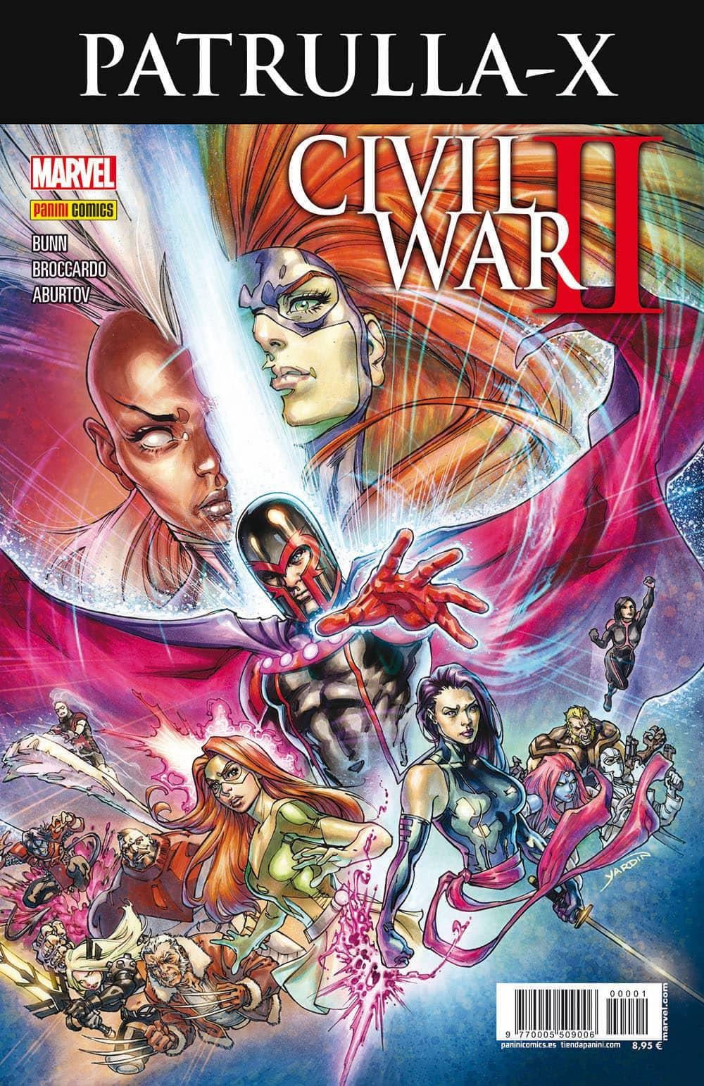 CIVIL WAR II CROSSOVER 01. PATRULLA-X