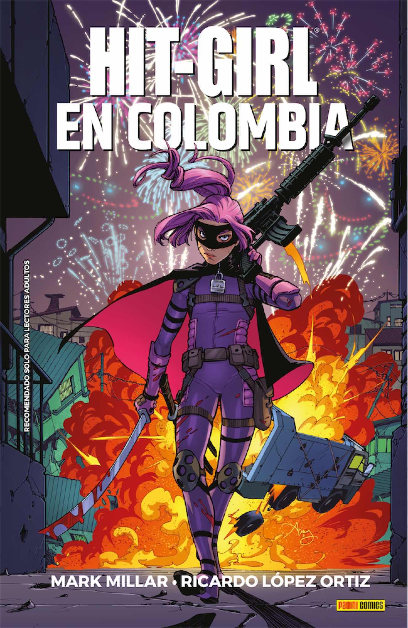 HIT GIRL EN COLOMBIA (COMIC)