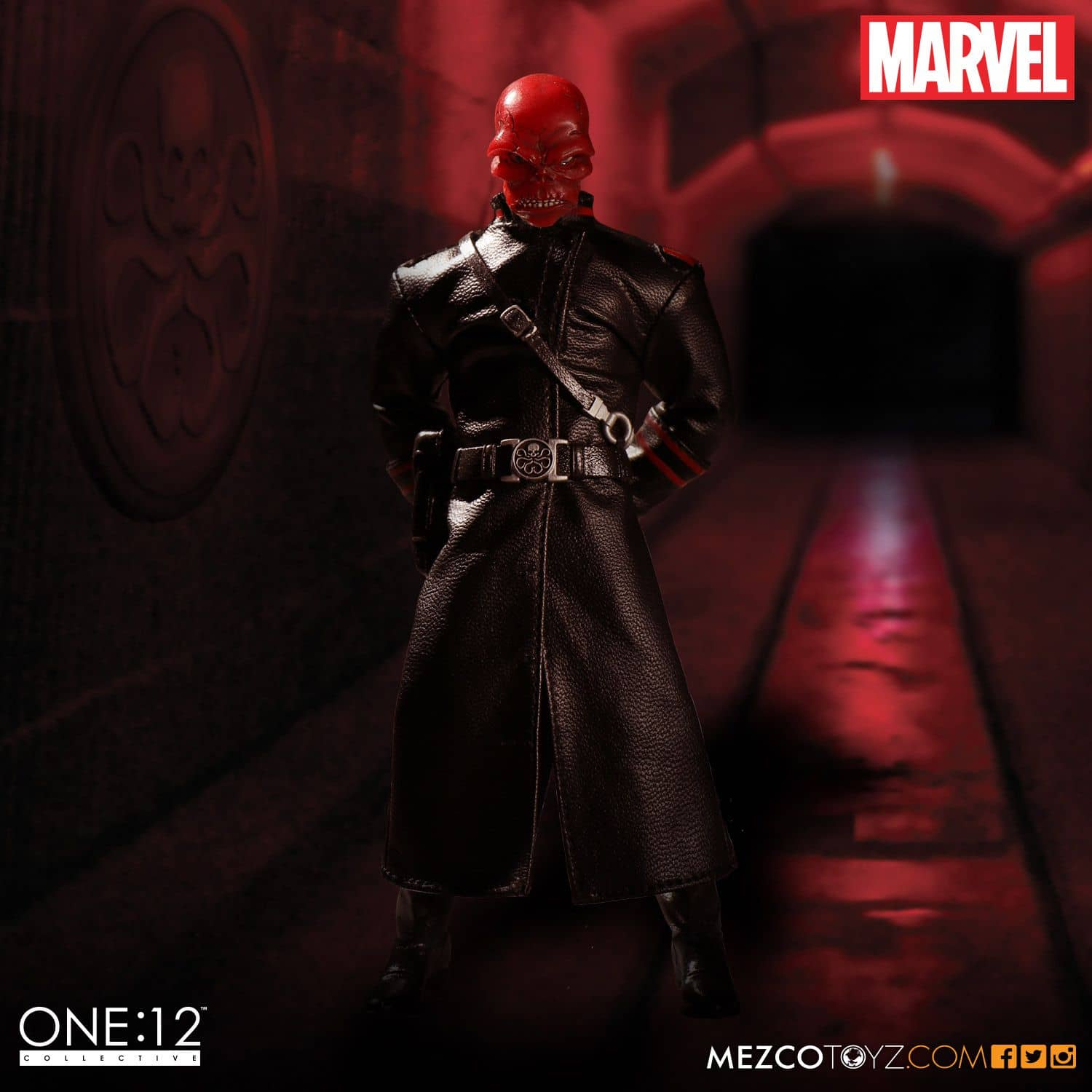 RED SKULL FIGURA 16,5 CM MARVEL ONE:12 COLLECTIVE