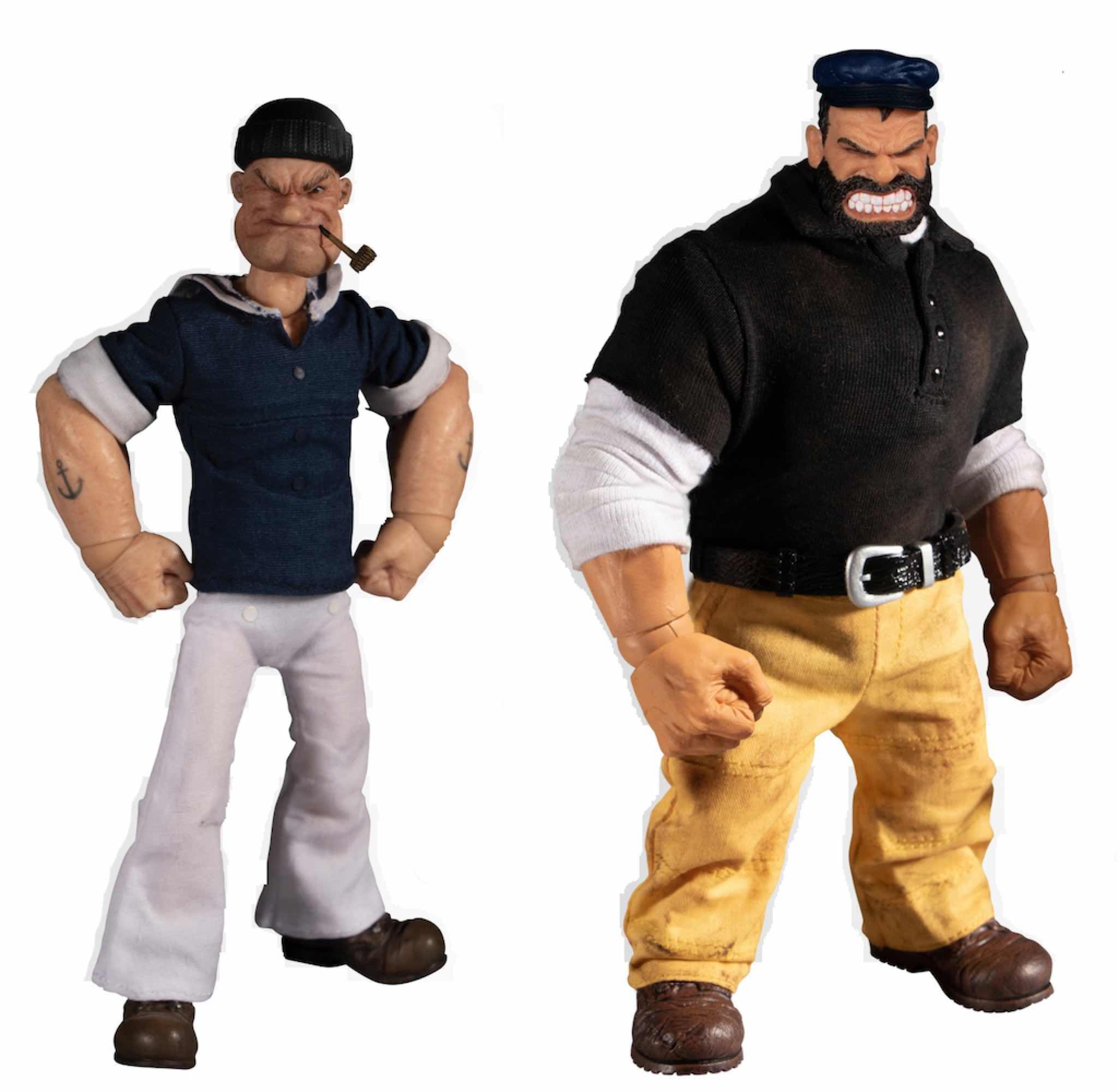 POPEYE Y BRUTUS SET DELUXE 2 FIGURAS 14-18 CM POPEYE THE ONE:12 COLLECTIVE