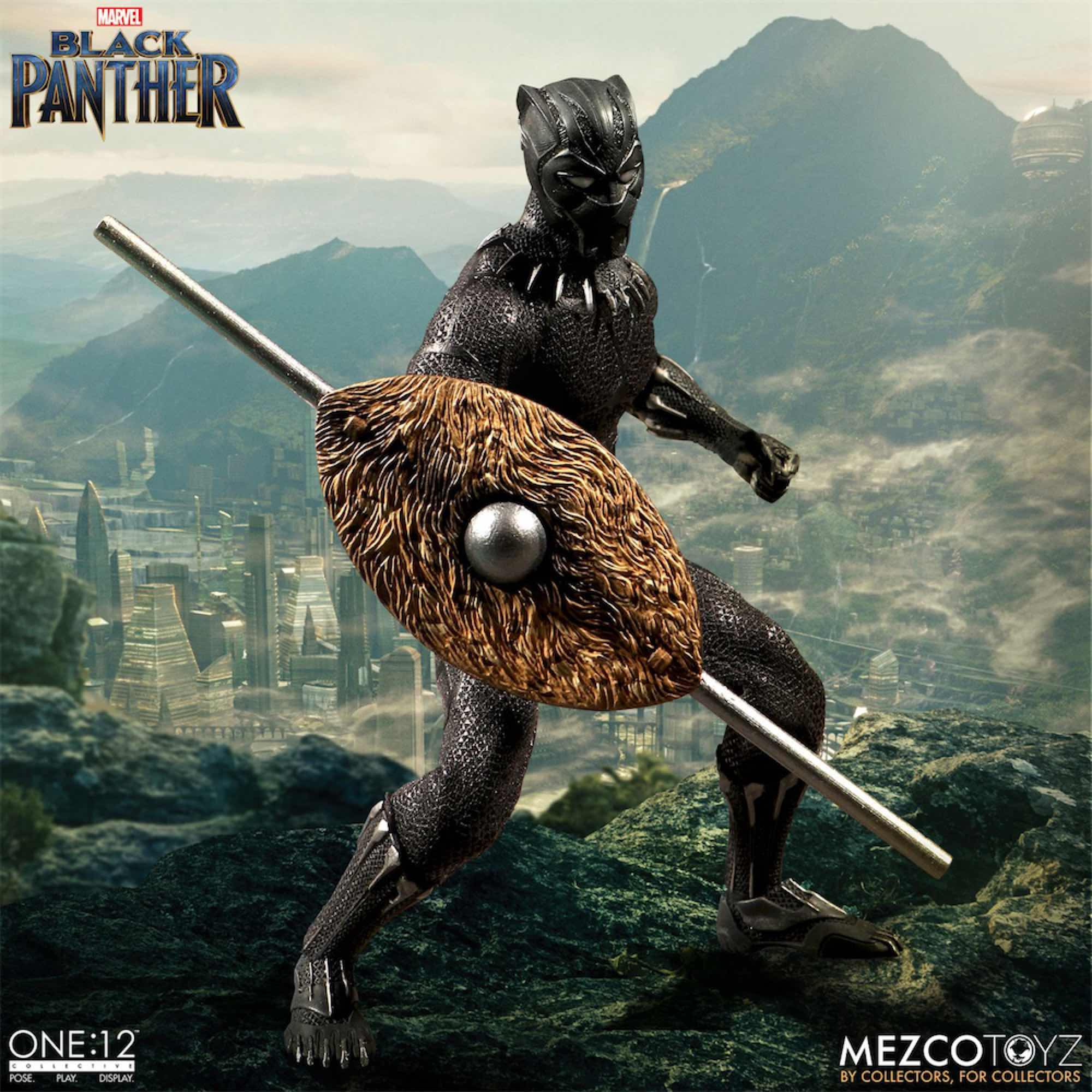 BLACK PANTHER FIGURA 17 CM MARVEL THE ONE:12 COLLECTIVE