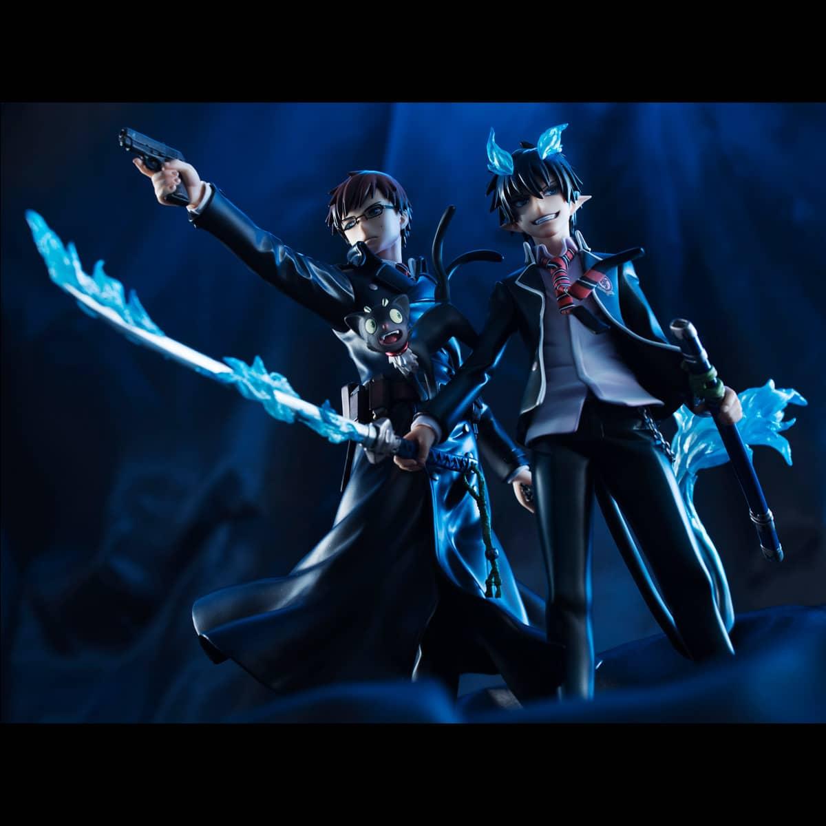 OKUMURA RIN & YUKIO SET 2 FIGURAS BLUE EXORCIST GEM SERIES
