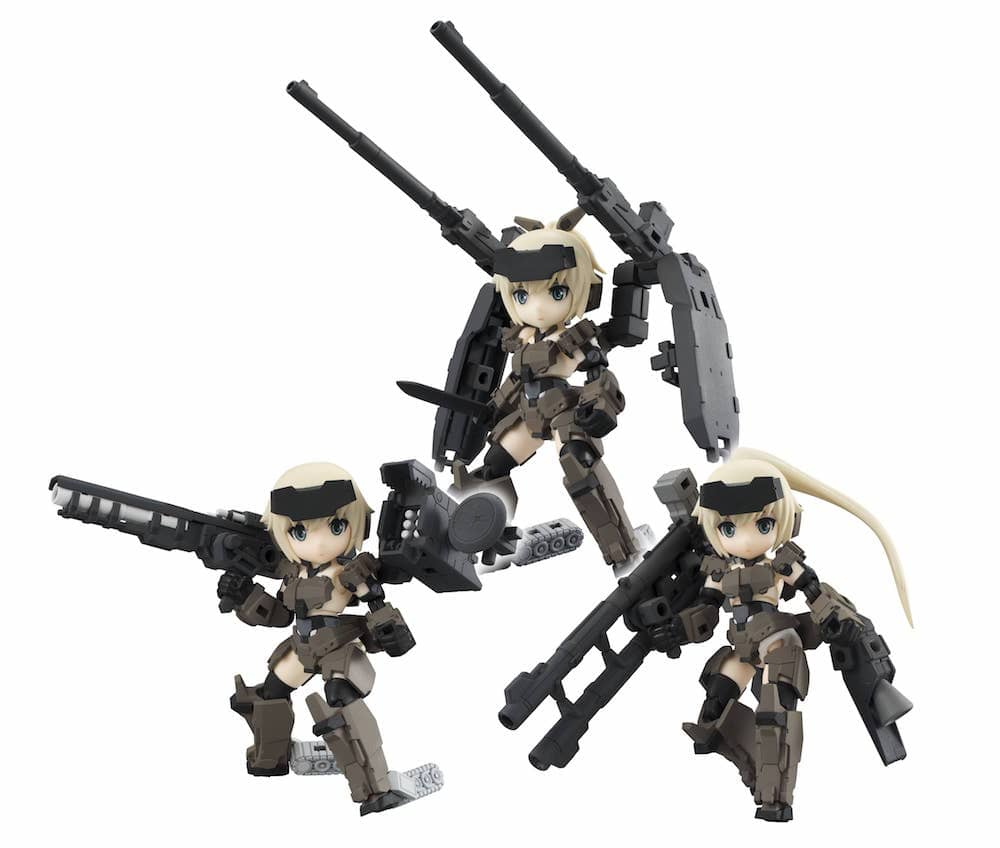 KT-321F GOURAI SERIES DISPLAY BLIND BOX 3 FIGURAS 8 CM DESKTOP ARMY FRAME ARMS GIRL