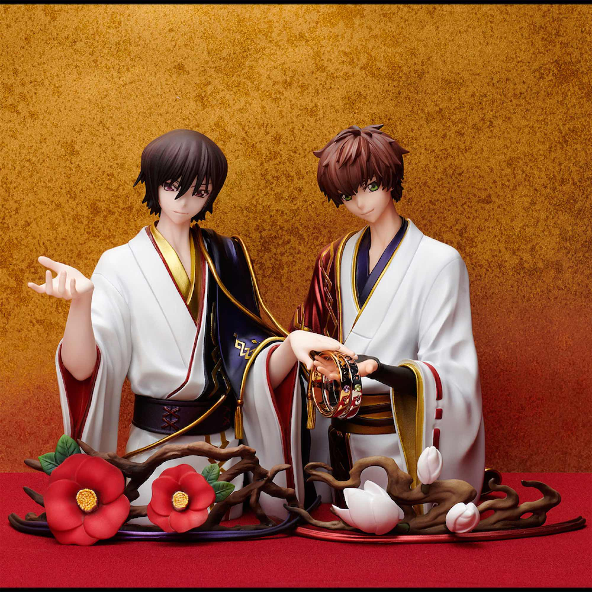 LELOUCH & SUZAKU FIGURA Y ANILLOS T-13 RING STYLE CODE GEASS LELOUCH FREEING