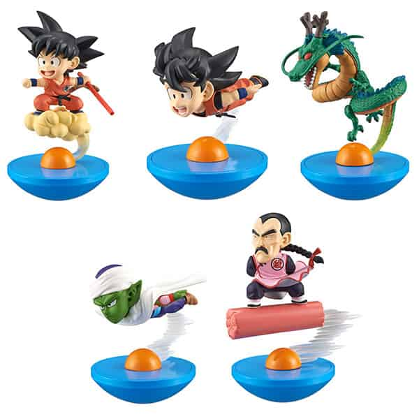DRAGON BALL DISPLAY 5 FIGURAS 8 CM DRAGON BALL Z SERIE YURA COLE