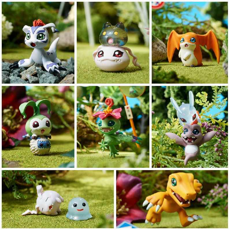 DISPLAY DIGIMON ADVENTURE 8 FIGURAS DATA 01 5,5 CM DIGIMON DIGICOLLE