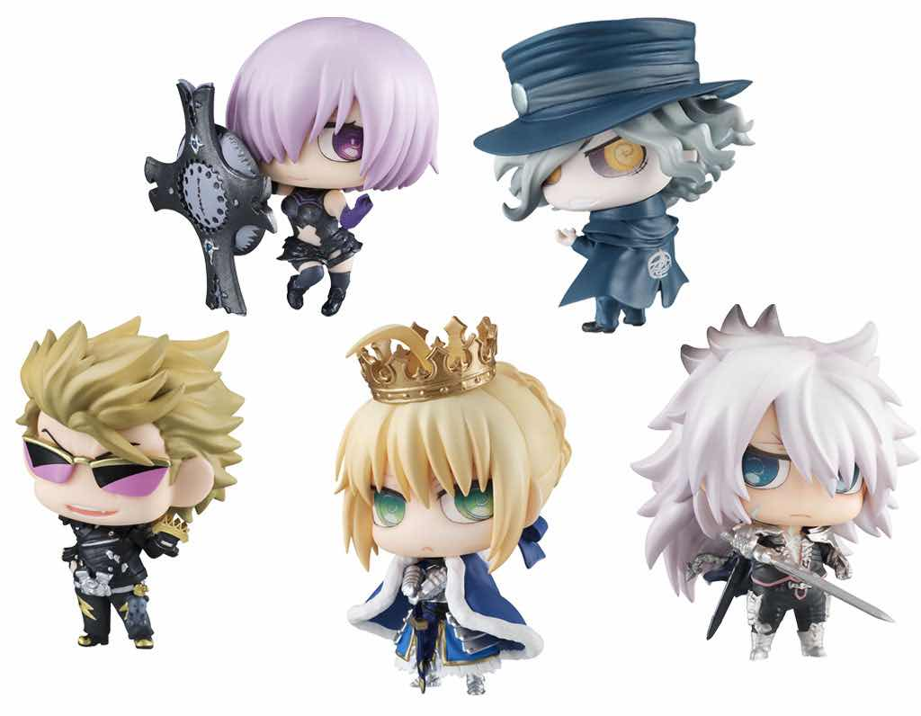 CHIMIMEGA N.1 5 MINI FIGURAS 4.5 CM FATE/GRAND ORDER PETIT CHARA LAND SERIE
