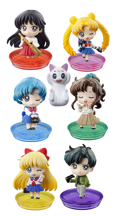 PRETTY SOLDIER SAILORMOON SCHOOL LIFE DISPLAY 6 MINI FIGURAS 6 CM PETT CHARA