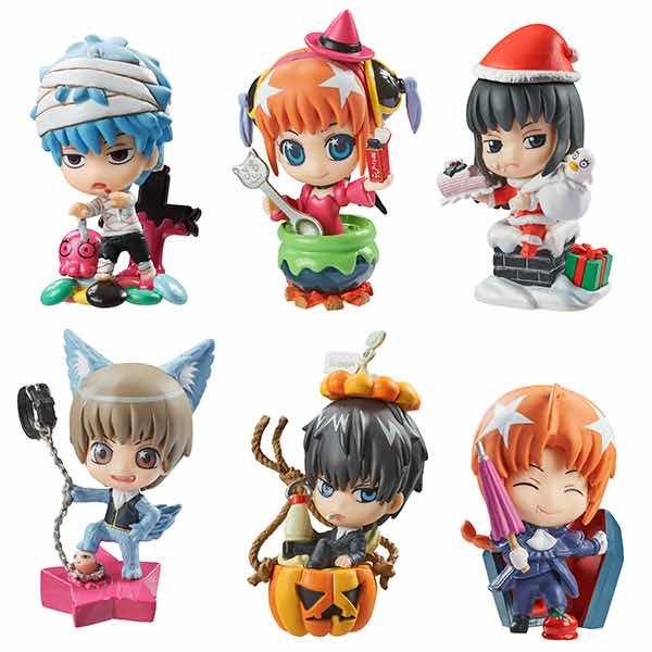 AUTUMN & WINTER PARTY VERSION DISPLAY 6 FIGURAS 6 CM GINTAMA