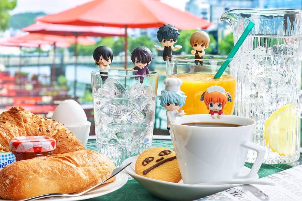 YOROZUYA CAFE DISPLAY 8 MINI FIGURAS 4.5 CM GINTAMA OCHATOMO SERIE