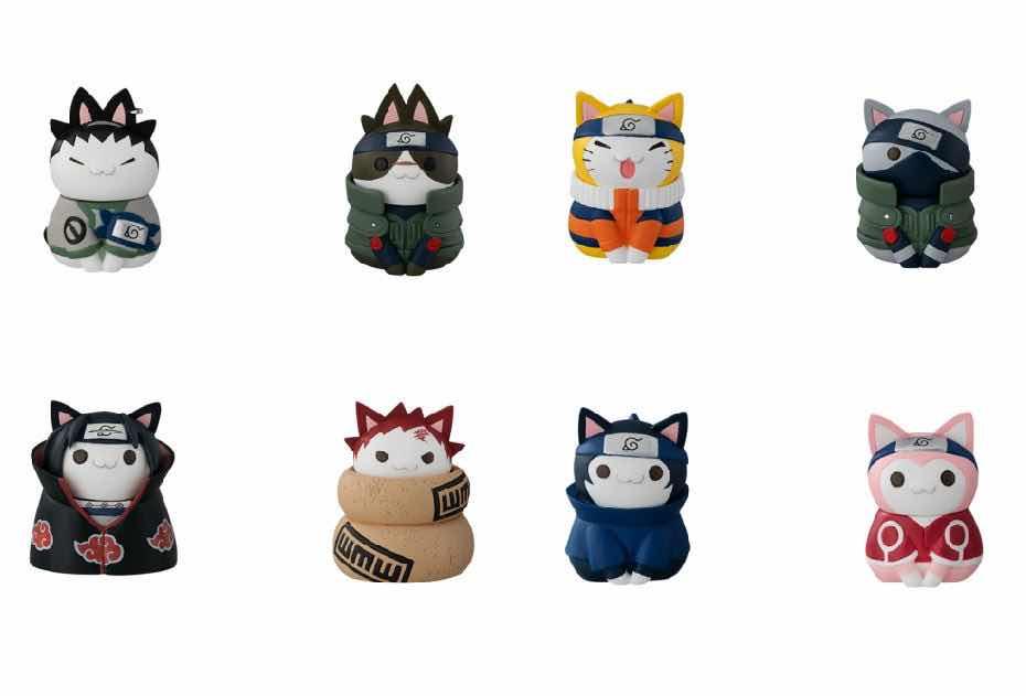 CATS OF KONOHA VILLAGE DISPLAY 8 FIGURAS 3 CM NARUTO - NYARUTO!