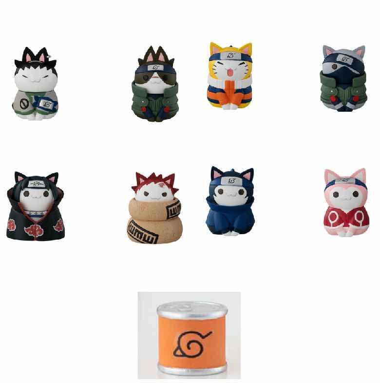 CATS OF KONOHA VILLAGE DELUXE DISPLAY 8 FIGURAS 3 CM NARUTO - NYARUTO!