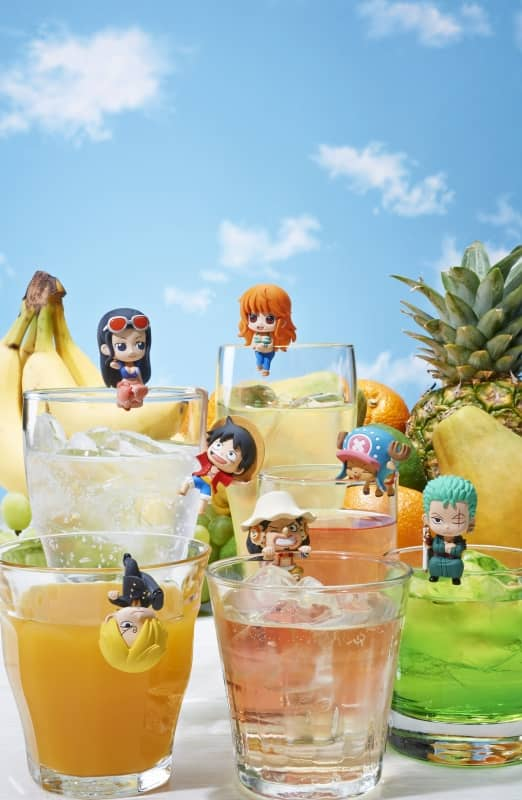 PIRATES TEA TIME DISPLAY 8 FIGURAS 4,5 CM ONE PIECE OCHATOMO SERIES