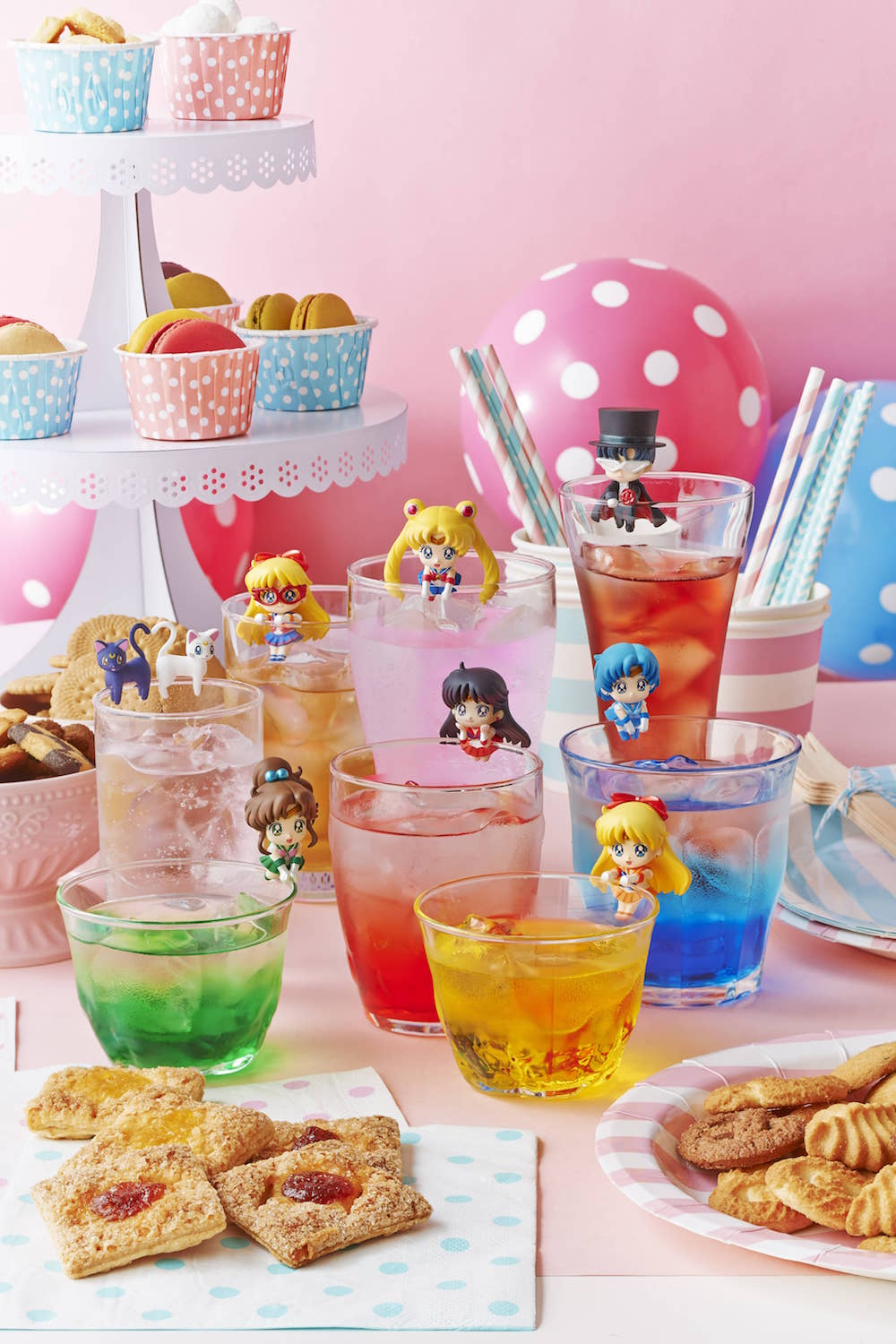 MOON PRISM CAFE DISPLAY 8 MINI FIGURAS 5 CM PRETTY SOLDIER SERIE OCHATOMO