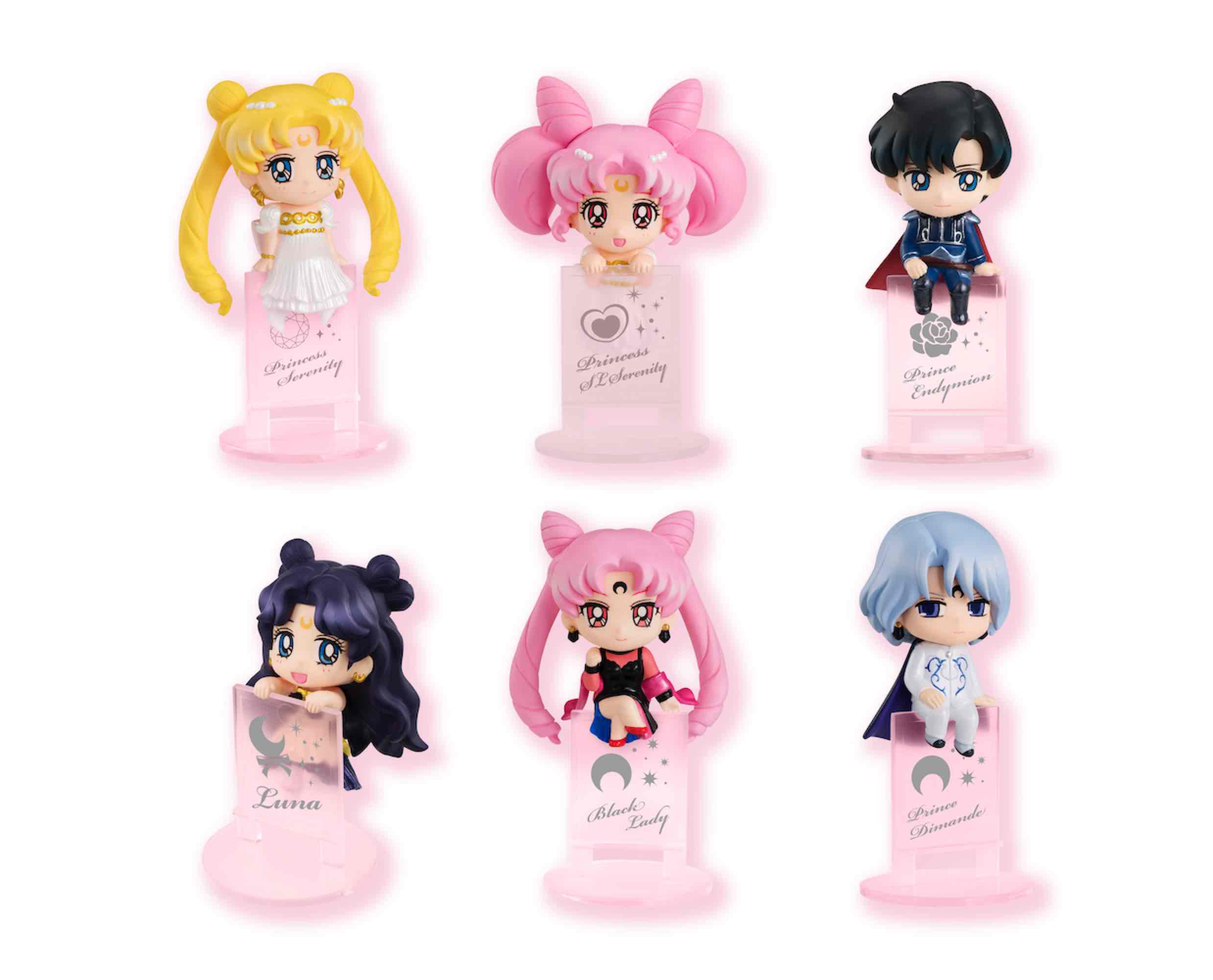 NIGHT & DAY DISPLAY 8 FIGURAS 4.5 CM SAILOR MOON OCHATOMO SERIES